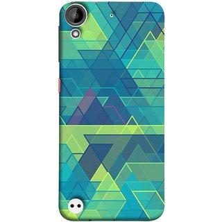 FUSON Designer Back Case Cover For HTC Desire 530 (Hexagonal Shape Abstract Pattern Geometric Shapes )