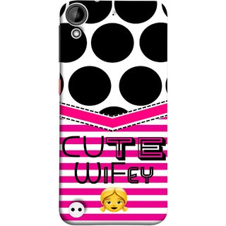 FUSON Designer Back Case Cover For HTC Desire 530 (Beautiful Wife Husband Nice Couples Pink Design Paper)