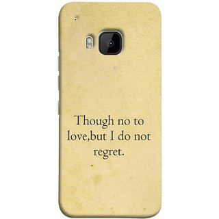 FUSON Designer Back Case Cover For HTC One M9 :: HTC One M9S :: HTC M9 (Pyar Nahi To Bhi Koi Pachtava Nahi Prem Nasale )