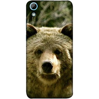 FUSON Designer Back Case Cover For HTC Desire 628 :: HTC Desire 628 Dual Sim  (Bhalu Looking At You Animal Forest Green Background)