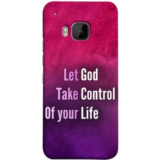 FUSON Designer Back Case Cover For HTC One M9 :: HTC One M9S :: HTC M9 (Ishwar God Sake Controlling Life Happy Life)