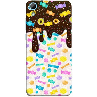 FUSON Designer Back Case Cover For HTC Desire 830 :: HTC Desire 830 Dual Sim (Candies Candy Chocolate Marshmallo Colourful Child)