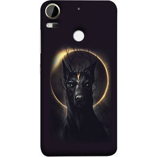 FUSON Designer Back Case Cover For HTC Desire 10 Pro (Doubles As An Aureola Suggesting The God Black Dog)