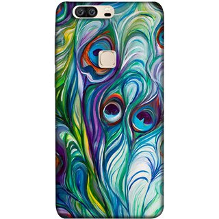 FUSON Designer Back Case Cover For Huawei Honor V8 (Colourful Psychee Vibrant Colors Modern Art Silk Paintings )