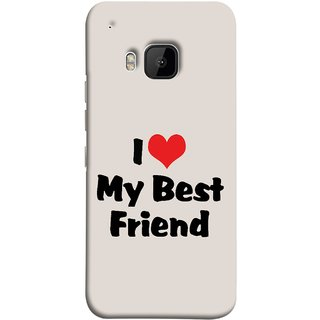 FUSON Designer Back Case Cover For HTC One M9 :: HTC One M9S :: HTC M9 (Lover True And Pure Friendship Day Hearts Forever)
