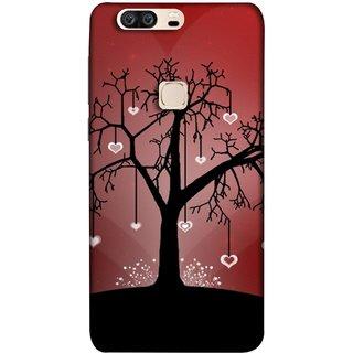 FUSON Designer Back Case Cover For Huawei Honor V8 (Tree Silhouette Spring Cherry Tree Lovers Shining )