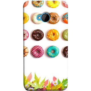 FUSON Designer Back Case Cover For HTC M7 :: HTC One M7 (Cute Food Donuts Themes For Parties Soft &Amp)
