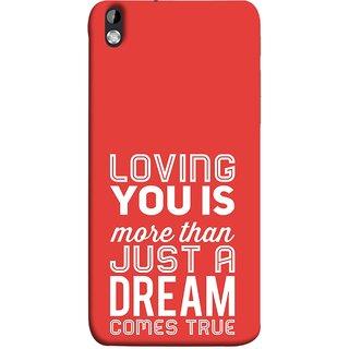 FUSON Designer Back Case Cover For HTC Desire 816 :: HTC Desire 816 Dual Sim :: HTC Desire 816G Dual Sim (Comes True Love You Forever Valentine Couples Lovers)