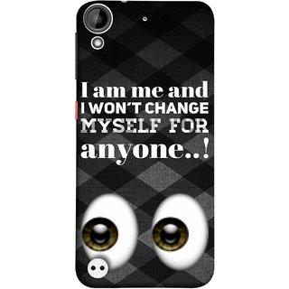 FUSON Designer Back Case Cover For HTC Desire 530 (For Anyone Eyes Two Logos Main Khud Ko Kisi Ke )
