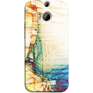 FUSON Designer Back Case Cover For HTC One M9 Plus :: HTC One M9+ :: HTC One M9+ Supreme Camera (Architect  Design Wood Pattern Curvilinear Plan Year)