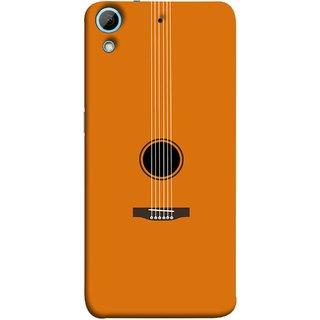 FUSON Designer Back Case Cover For HTC Desire 728 Dual Sim :: HTC Desire 728G Dual Sim (Musical Instrument Vintage Bass Music Lovers Play)