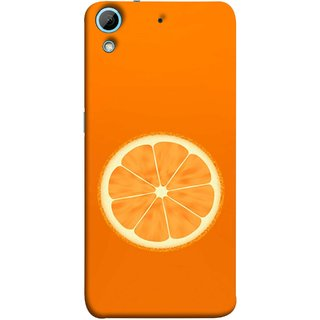 FUSON Designer Back Case Cover For HTC Desire 728 Dual Sim :: HTC Desire 728G Dual Sim (Farm Fresh Fruits Lemons Fresh Juicy Orange Slice)