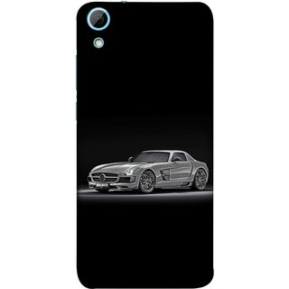 FUSON Designer Back Case Cover For HTC Desire 828 Dual Sim (Road Black White Clouds Beautiful Road Blue Side Mirror)