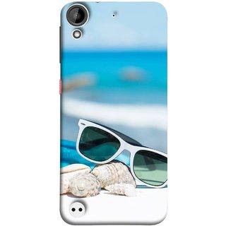 FUSON Designer Back Case Cover For HTC Desire 530 (Summer Vacation Beach Mobile Wallpaper Blue Sky )