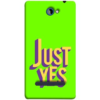 FUSON Designer Back Case Cover For HTC Windows Phone 8S :: HTC 8S (Just Green Say Always To Problems Solve Resolve)