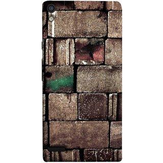 FUSON Designer Back Case Cover For Huawei Ascend P6 (Irregular Shapes Ancient Different Sizes Wallpaper)
