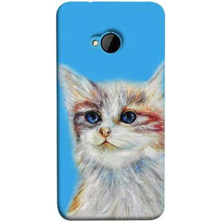 FUSON Designer Back Case Cover For HTC M7 :: HTC One M7 (Dog Cat Kitten Whisker Puppy Triangle Rectangle)