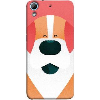 FUSON Designer Back Case Cover For HTC Desire 728 Dual Sim :: HTC Desire 728G Dual Sim (Big Smiling Puppy Canvas Painting Close Up Photo)
