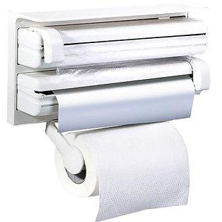 Max JP Triple Paper Plastic Dispenser For Cling Film Wrap Aluminium Foil  Kitchen Roll