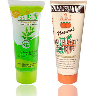 ADS Premimum Series Neem Face Wash and Scrub ( pack of 2)