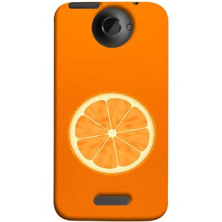 FUSON Designer Back Case Cover For HTC One X :: HTC One X+ :: HTC One X Plus :: HTC One XT (Farm Fresh Fruits Lemons Fresh Juicy Orange Slice)