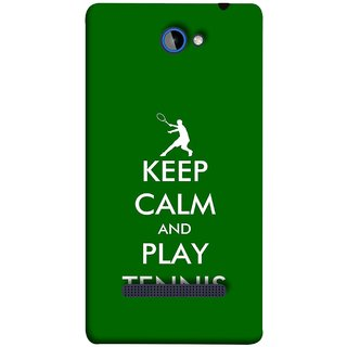 FUSON Designer Back Case Cover For HTC Windows Phone 8S :: HTC 8S (Tennis Player Logo Keep Silent And Cool Game On)