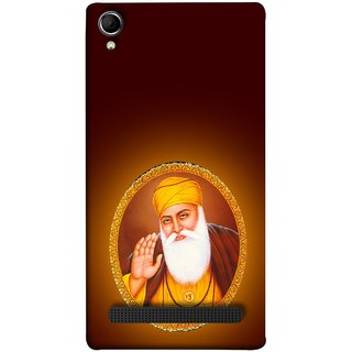 FUSON Designer Back Case Cover For Intex Aqua Power Plus :: Intex Aqua Power + (Guruji Beautiful Frame God His Mission Blesses)