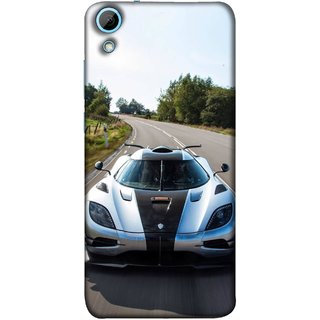FUSON Designer Back Case Cover For HTC Desire 628 :: HTC Desire 628 Dual Sim  (Clouds Beautiful Silver Sports Car Led American Cars)