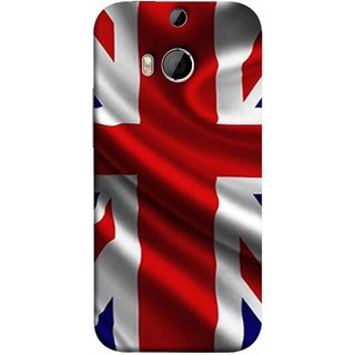 FUSON Designer Back Case Cover For HTC One M9 Plus :: HTC One M9+ :: HTC One M9+ Supreme Camera (United Kingdom England Flag Embroidered Red Blue )