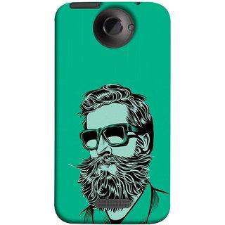 FUSON Designer Back Case Cover For HTC One X :: HTC One X+ :: HTC One X Plus :: HTC One XT (Full Thick Black Beard Man Men Glasses Mustache)