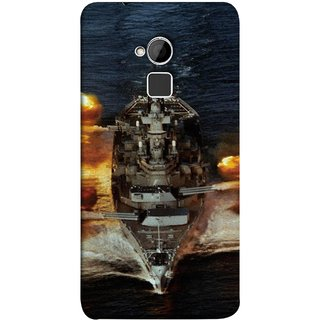 FUSON Designer Back Case Cover For HTC One Max :: HTC One Max Dual SIM (Indian Submarine Shoots Ship With Missile Training )