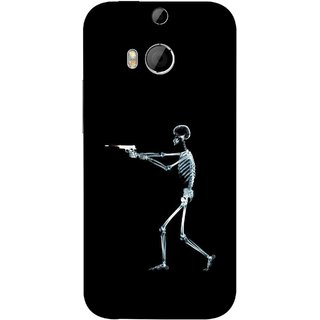 FUSON Designer Back Case Cover For HTC One M9 Plus :: HTC One M9+ :: HTC One M9+ Supreme Camera (Incredible Human Xray Pictures Revolver Icon In Black)