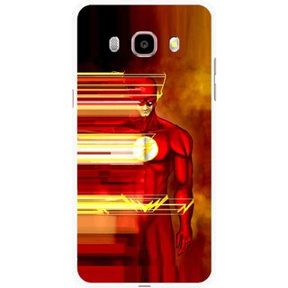Snooky Printed Electric Man Mobile Back Cover For Samsung Galaxy J7 (2016) - Multicolour