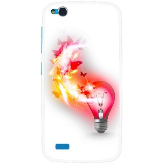 Snooky Printed Butterly Bulb Mobile Back Cover For Gionee Elife E3 - Multi
