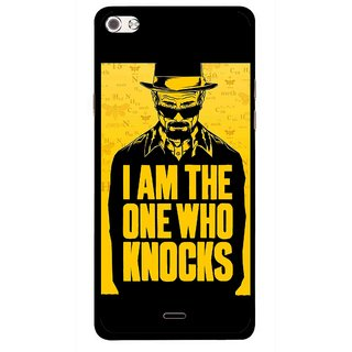 Snooky Printed Who Knocks Mobile Back Cover For Micromax Canvas Sliver 5 Q450 - Multi