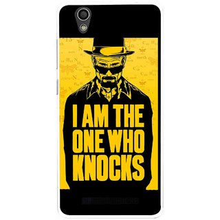 Snooky Printed Who Knocks Mobile Back Cover For Gionee F103 - Multi