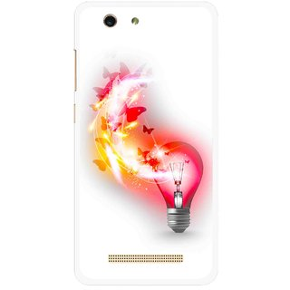 Snooky Printed Butterly Bulb Mobile Back Cover For Gionee F103 pro - Multi