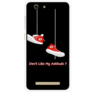Snooky Printed Attitude Mobile Back Cover For Gionee F103 pro - Multi