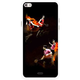 Snooky Printed Sports Player Mobile Back Cover For Micromax Canvas Sliver 5 Q450 - Multi