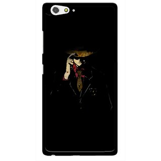 Snooky Printed Cow Bow Mobile Back Cover For Gionee Elife S6 - Multi