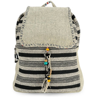 The House of Tara Handloom Fabric Stylish Everyday Backpack HTBP 113