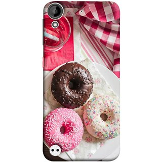 FUSON Designer Back Case Cover For HTC Desire 530 (Glazed Donuts Sweet Desserts Party Cold Soft Drink)