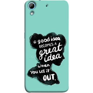 FUSON Designer Back Case Cover For HTC Desire 728 Dual Sim :: HTC Desire 728G Dual Sim (Black Colour Lady Photo Best Ideas Become Great)