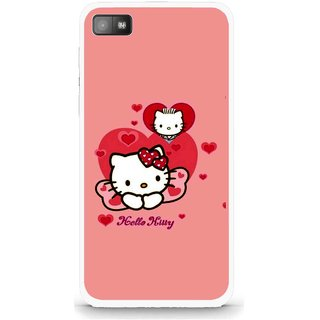 Snooky Printed Pinky Kitty Mobile Back Cover For Blackberry Z10 - Multi