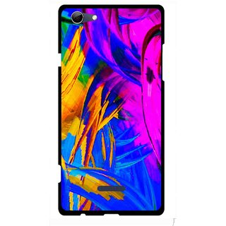 Snooky Printed Color Bushes Mobile Back Cover For Micromax Canvas Selfie 3 Q348 - Multi