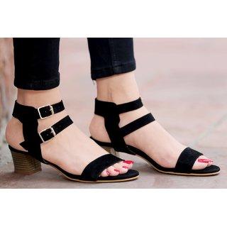 STREETSTYLESTORE Women's Black Heels: Buy STREETSTYLESTORE Women's ...