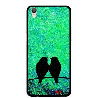 Snooky Printed Love Birds Mobile Back Cover For Oppo F1 Plus - Multi