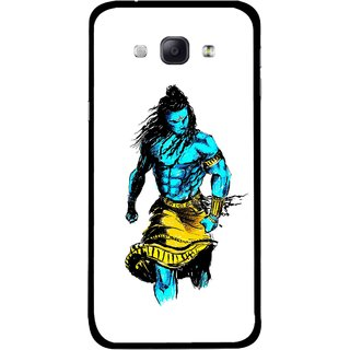 Snooky Printed Bhole Nath Mobile Back Cover For Samsung Galaxy A8 - Multicolour