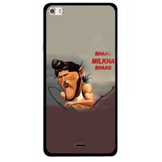 Snooky Printed Bhaag Milkha Mobile Back Cover For Micromax Canvas Sliver 5 Q450 - Multi