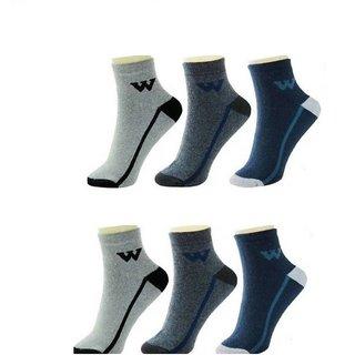 DDH Men's Ankle Length Socks  (Pack of 6)-W